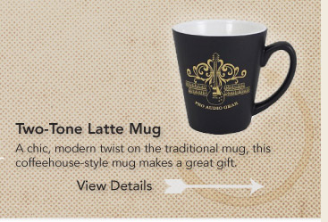 A Chic,modern twist on the traditional mug,this coffeehouse-style mug makes a great gift.